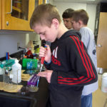 Learning to pipette.