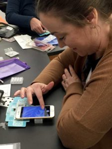 Using a phone with a foldscope